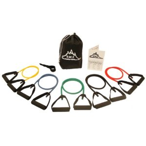 NEW Set of 5 B.M.P. Resistance Bands for Men And Women, Great for Any Home Workout Exercise Including Extreme workouts, Now Includes a 60 Money Back Guarantee