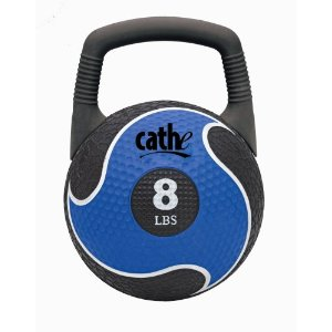 Fitness by Cathe 8-Pound 2 in 1 Power Medicine Ball And Kettlebell with DVD