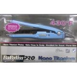 Babyliss Pro Nano Titanium 1/2 Inch Mini Flat Iron Straightener Travel Model #Babnt3050