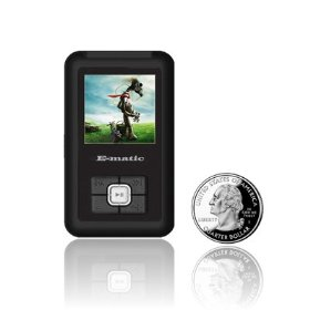Ematic 8GB Color MP3 Video Player with 1.5-Inch Screen, FM Radio and Voice Recording (Black)