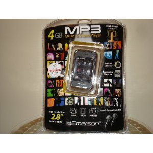 Emerson 4GB MP3 Music & video Player