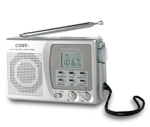 Coby cxcb91 radio pocket 9band clock
