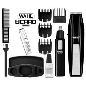 Wahl 5537 1801 trimmer cordless black nose trimmer free
