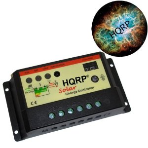 HQRP Solar Controller 10 Amp Charge Power Regulator 10A 12V with Two-Digit LED Display plus HQRP Mousepad