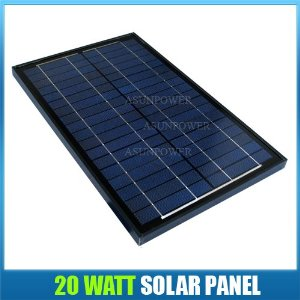 Solartech Power 20 Watt 12 Volt Black Frame