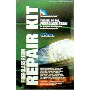Fiberglass Resin Repair Kit with Fiberglass Mat (Quart)