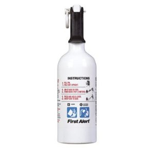 First Alert KFE2S5 5-B:C Kitchen Fire Extinguisher, White
