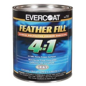 FIB 732 - FeatherFill 4:1 Primer Surfacer, Gray, Gallon