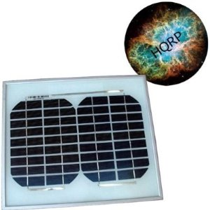 HQRP 6W (Size of 5 Watt / 5W) Mono-crystalline Solar Panel 6 Watt 12 Volt in Anodized Aluminum Frame plus HQRP Mousepad