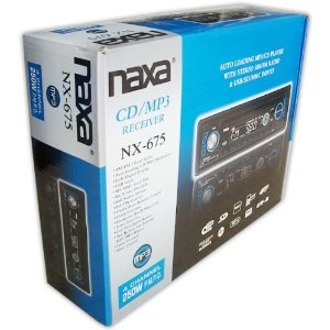 Naxa NX-675 Detachable Stereo AM-FM Radio MP3-CD Player With ID3 Text Function MP3-ESP Anti-Skip Protection USB Plug SD-MMC Memory Card Slot & AUX-In Jack