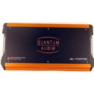 Brand New Quantum Audio Cozmik Series 4,000 Watts Dynamic Power (2000 Rms) Mono-block Car Amplifier with Built in Crossover, Sub-sonic Filter, Bass Boost Control, and Free Remote Bass Knob