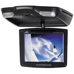 Power Acoustik PMD-103CM BK 10.4-Inch Overhead Monitor with Built-in DVD Player
