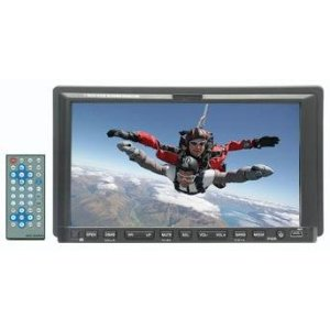 Performance Teknique ICBM-9705 Double DIN 7 inch TOUCHSCREEN In-Dash DVD / AM/FM / VCD / SVCD/ CD-RW / CD Player / Receiver with Built-In TV Tuner, Fully Motorized Front Panel, AUX Input (Audio/Video) and Remote (Booster TV Antenna Included)