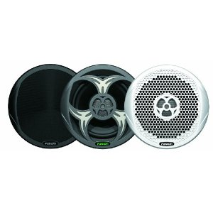 Fusion MS-FR602 6-Inch IPX65 2-Way 200 Watts High Performance Marine Speakers Includes 3 Different Grills (White/ Black/Grey)