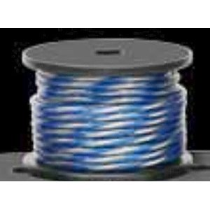 16 Gauge Twisted Pair Speaker Wire Cable Blue/Silver Directed Audio Essentials BY THE FOOT