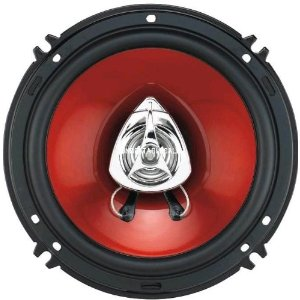 BOSS CH6552 2-Way Red Poly Injection Cone Duo-Fit Speaker, Fits 6.5-Inch and 5.25-Inch locations