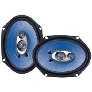 PYLE PL683BL 6-Inch x 8-Inch 360 Watt Three-Way Speakers