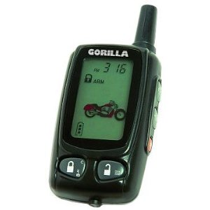 Gorilla Automotive 7017 Motorcycle Alarm with 2-Way Paging System