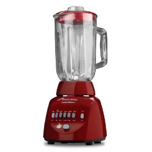 Black & Decker BL10450HR Crush Master 10-Speed Blender with 42-Ounce Glass Jar, Red