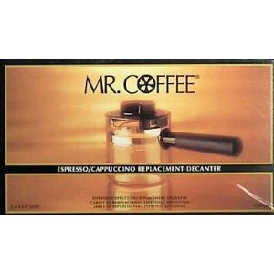 Mr. Coffee Espresso Carafe Assembly w/ Lid, Black