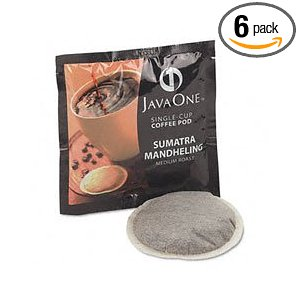 Java One Sumatra Mandheling Coffee, 14-Count Pods (Pack of 6)
