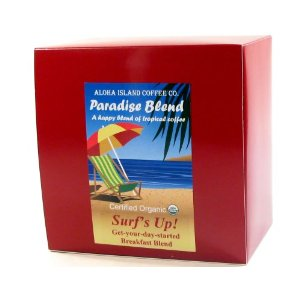 Aloha Island Coffee Company Surf's Up! Breakfast Blend, 36-Count Organic Coffee Pods