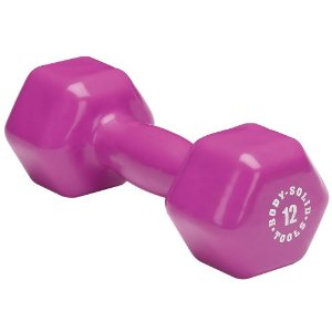 Body Solid Tools BSTVD12 12-Pound Vinyl Dumbbell (Magenta)