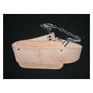 Dipping Belt FITNESS-PRO - Leather NATURAL