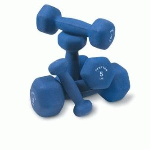 Hampton Fitness Hexagon Neoprene Dumbbells - Pair