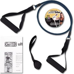 GoFit Ultimate 4-Foot X-Heavy Resistance Ultimate Power Tube with Core Performance DVD (Black / 20-Pound)