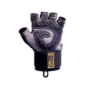 GoFit Diamond-Tac Weightlifting Wrist Wrap Glove and Training CD
