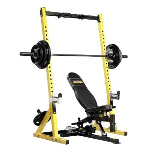 Powertec WB-HR10 Workbench Half Rack (Yellow)