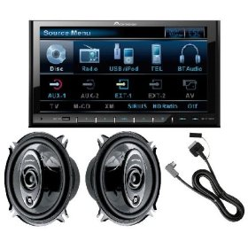 Pioneer AVH-P4100DVD In-Dash DVD Player with 6x9-Inch SA6973R Speakers and CDIU200 iPod Cable