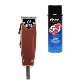 Oster Fast Feed Clipper With Attachments Plus 5 In 1 Blade Care Spray