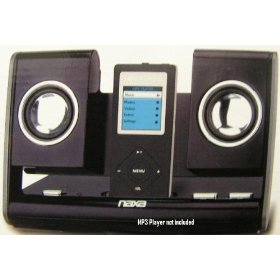 NAXA NX-3002 MP3 Portable Folding Speaker for MP4/MP3 Players, PC's, DVD Players and CD Players