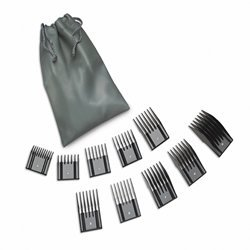 Oster Universal Hair Clipper Comb Attachments- 10pc Pouch Set