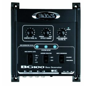 BOSS BG100 Bass Generator, Increases Bass Response in the frequency range you select with Remote Control