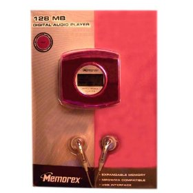 Memorex MP3 Digital Audio Player 128MB with Expandable SD/MMC Card Slot