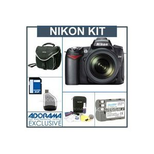 Nikon D90 Digital SLR Camera/ Lens Kit, with AF-S DX NIKKOR 18-105mm f/3.5-5.6G ED VR Lens, 8GB SD Memory Card,Spare EN-EL3e Lithium-Ion Rechargeable Battery, Slinger Camera Bag, USB 2.0 SD Card Reader, Professional Lens Cleaning Kit