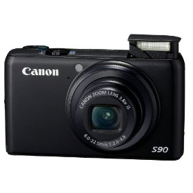 Canon PowerShot S90IS 10MP Digital Camera with 3.8x Wide Angle Optical Image Stabilized Zoom and 3-inch LCD