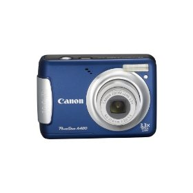 Canon PowerShot A480 10 MP Digital Camera with 3.3x Optical Zoom and 2.5-inch LCD (Blue)