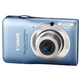 Canon PowerShot SD1300IS 12 MP Digital Camera with 4x Wide Angle Optical Image Stabilized Zoom and 2.7-Inch LCD (Blue)