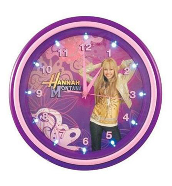 Tm 001732 hanna montana clock led