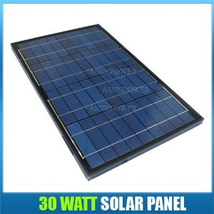 Solartech Power 30 Watt 12 Volt Solar Panel Black Frame