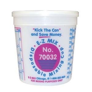 E-Z Mix (EZX70032) Disposable Mixing Cups - 100 One Quart Cups
