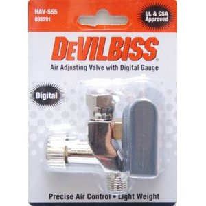Air Adjusting Valve with Digital Gauge Devilbiss HAV-555 - 803291