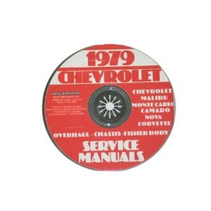 1979 Corvette Shop and Service Manual on CD