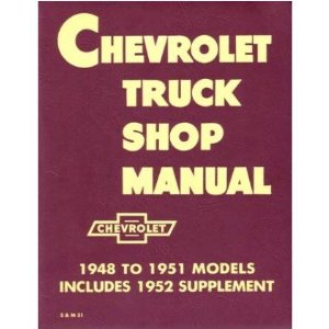 1951 1952 1953 CHEVY PICKUP TRUCK Shop Service Manual