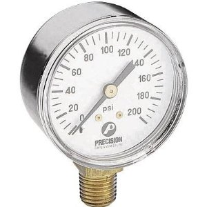 Northern Industrial Tools Air Pressure Gauge - 1/4in. Inlet, 200 PSI