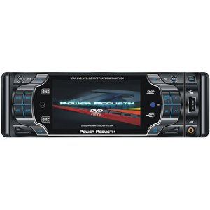 Power Acoustik PTID-4002 1-DIN Sized In-Dash Detachable Faceplate CD / DVD / MP3 / MPEG Player / AM/FM Receiver with 3.6 inch Wide Screen LCD / TFT Monitor